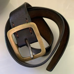 Kika NY Dark Brown Leather Belt Handmade Sz M